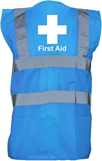 Brand88 - First Aid Cross, Printed Hi-Vis Vest Waistcoat