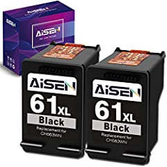 Packaged Contents: Remanufactured ink cartridges for HP 61XL 61 XL ink cartridges combo pack (2 Black) Compatible Printers: Envy 4500 4501 4502 4503 4504 4505, Envy 5530 5531 5532 5534 5535 5539, OfficeJet 2620 2621 4630 4632 4634 4635, DeskJet 1000 ...