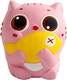 pengxian Jumbo Squishies with Strawberry Smell - Pink Cat Slow Rising & Kawaii Squishy for Kids