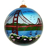 Best Sights of San Francisco Ornament - Hand Painted Glass Christmas Ornament with Gift Box