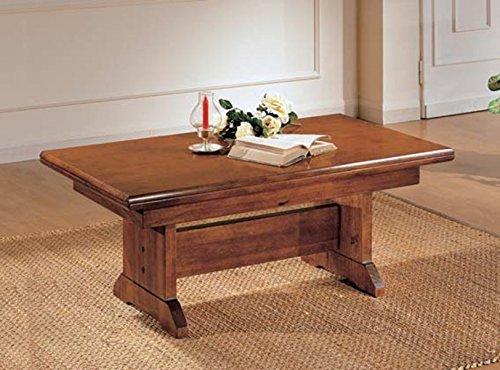 Legno&Design Rechteckiger Couchtisch, verwandelt sich in einen Tisch. Italienische Handwerkskunst.