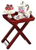 Puppenhaus Serviertisch Servierwagen mit Porzellan Wohnzimmer Möbel Dekoration Miniatur 1:12