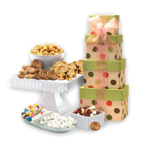 Broadway Basketeers Gourmet Celebration Gift Tower