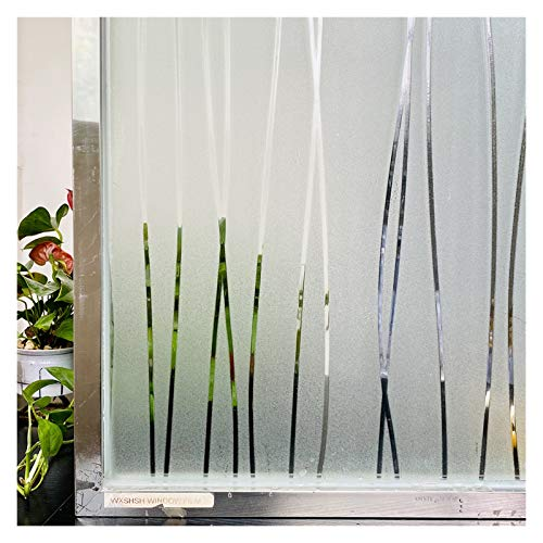 YGLONG Window Film Self Adhesive 2 Metre Window Film Stained Glass Decorative Sticker Privacy Frosted Self Adhesive Film Window Decal For Glass Window Film (Size : 90 x 200 cm)