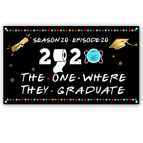Sixday Graduate Banner, Class of 2020 Congrats Graduate Graduate Party Supplies Stoff Flagge für Home Front Wall Decor H03