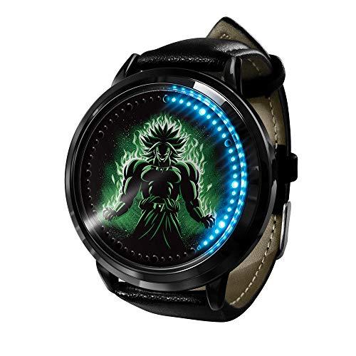 Nuevo Reloj de Moda para Hombres y Mujeres, Reloj de Dibujos Animados Dragon Ball Z, Reloj de Acero Inoxidable para Damas, Reloj de Cuarzo para niños-D