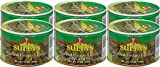 Sultan Vegetarian Stuffed Grape Leaves, Precooked Premium Dolma, Dolmades. Perfect for Mezze Platter, Serve Hot or Cold, Appetizer or Entrée! 14 oz Pack of 6
