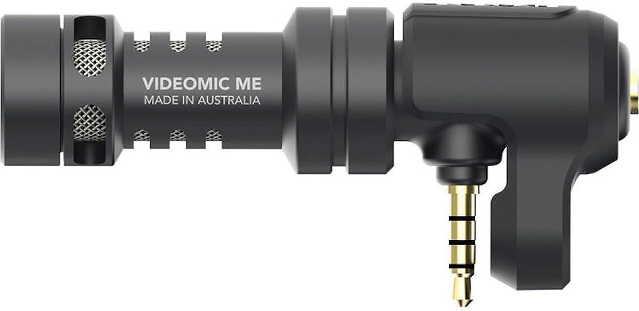 Rode VideoMic Me - Micrófono Direccional para Apple iPhone and iPad Jack 3.5 mm Soporte Flexible Negro
