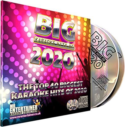 Karaoke-Chart-Hits 2020 CD+G-Disc-Pack, Die Top-40-Pop-Songs aus dem Jahr 2020, Mr Entertainer Big Hits,