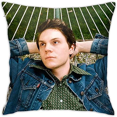 Evan Peters - Federa morbida per cuscino, decorativa, 45,5 cm