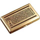 ファッション クリエイティブメタルタバコケース超薄型携帯用男性タバコ箱大容量大容量14普通/ 20枚の細かいタバコ (Color : Yellow, Size : 106X60X18MM)