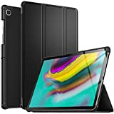 IVSO Funda Carcasa para Samsung Galaxy Tab S5e 10.5 T720/T725, Slim PU Protectora Carcasa Cover para Samsung Galaxy Tab S5e T720/T725 10.5 2019, Negro