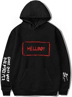 Amke LiPeep Hellboy Logo Unisex Fashion Print Hoodie Sweatshirt Tops