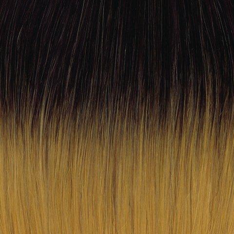 American Dream original de qualité 100% cheveux humains 50,8 cm soyeuse droite trame Couleur 1B-144 – Noir naturel – Or