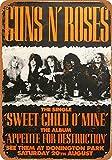 Froy 1988 Guns 'N Roses at Donington Park Wand Blechschild
