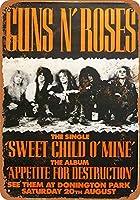 Shimaier 壁の装飾 メタルサイン 1988 Guns 'N Roses at Donington Park ウォールアート バー カフェ 縦20×横30cm ヴィンテージ風 メタルプレート ブリキ 看板