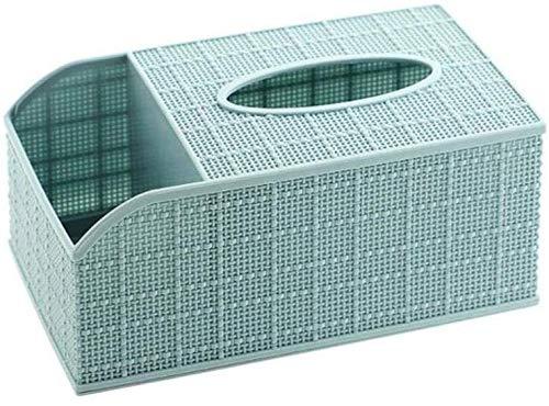 Papiertuch 1Pc Desktop-Tissue Box Fernbedienung Aufbewahrungsbox Home Living Toom Couchtisch Divider Plastikschale, blau Innenausstattungsartikel (Color : Blue)