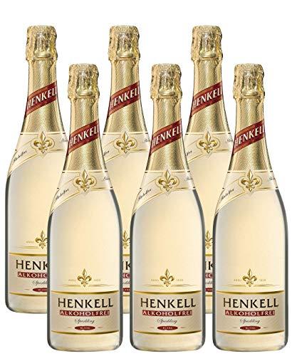 Henkell Sekt, Süß, Alkoholfrei (6 x 0,75 l Flaschen) – Geeignet für jede Party