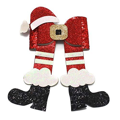 gao Voor Kerstmis Hoed Laarzen Haar Strikken Cloud Laarzen Pailletten School Meisjes Party Haarspeldjes Haaraccessoires Handgemaakt