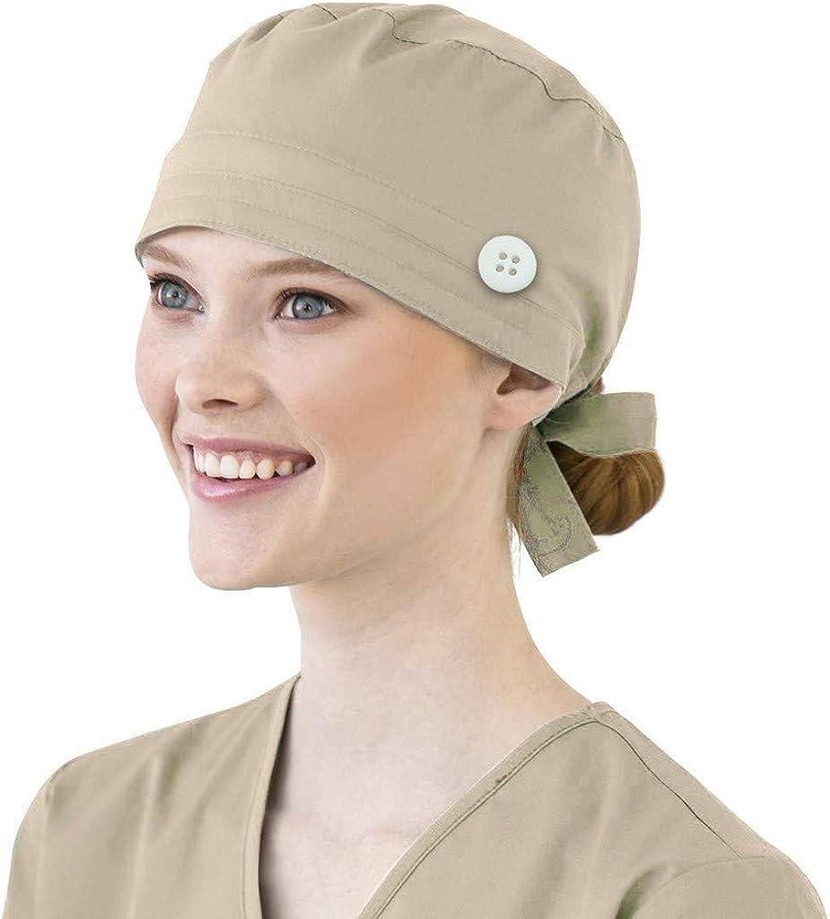 Calot Operatoire Chirurgical en Coton HengST Chapeau de Chirurgie Unisexe Chapeau de Travail Imprim/é pour Infirmi/ère M/édecin Chef Anesth/ésiste