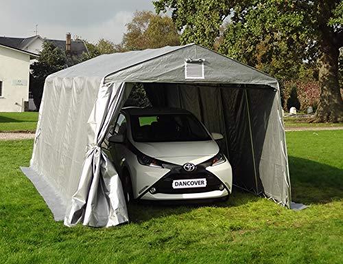 Dancover Tenda Garage Basic 3,3x4,8x2,4m PE, Grigio