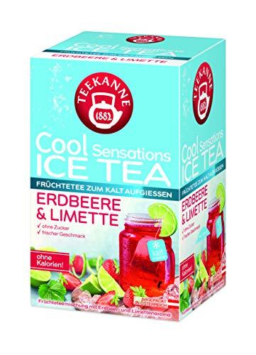 Teekanne Früchteteemischung mit Erdbeer- und Limettenaroma, 5er Pack (5 x 45 g)