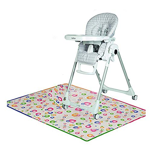Peg Perego Prima Pappa Zero 3 High Chair, Linear Grey with Splat Mat Bundle