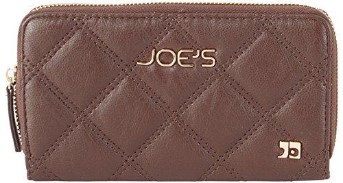 Joe's Jeans Diamond Quilted Zip Around Wallet - Brown