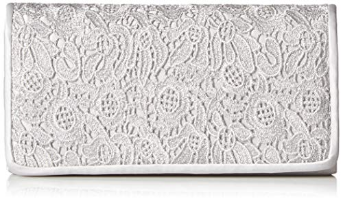 The theme for the evening is love and lace so set the tone with the stunning Adrianna Papell® Sabrina clutch. Made of satin with lace overlay detail at front. Flap with magnetic snap closure. Chained crossbody strap. Flat bottom.  Lined interior.  In...