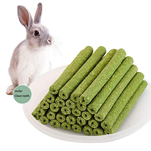 Hamster Chew Toys, Small Animal Chew Toys, Natural Timothy Grass Cake Chew Stick, Organic Chew Stick, Rabbit, Chinchilla, Guinea Pig Teeth Health Care