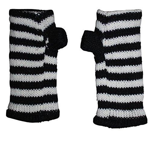 Freak Scene Freak Scene® Warmhaltende Arm und Bein Stulpen, Farbe: Armstulpen schwarz-weiß gestreift