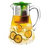 Finum Iced Tea Control - Tetera para té Helado (1,8 L, con Mecanismo Brew Control), Color Verde