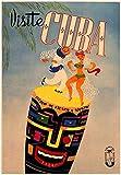 Viaje a Cuba La Habana Pintura en lienzo Cuadros de pared vintage Dancing People Paisaje Carteles Impresiones artísticas de moda para decoración del hogar Cuadros 40x60cm Sin marco