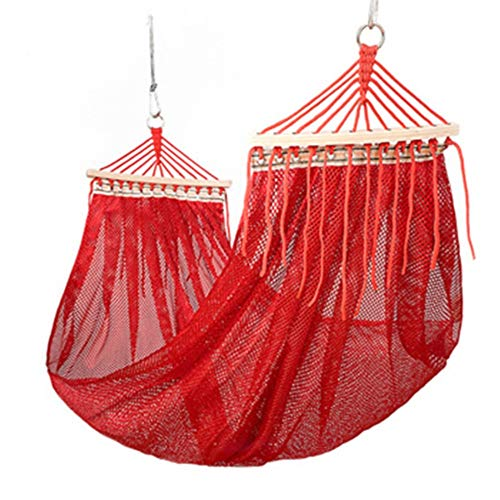 EVERAIEWR Garden Camping Hammock Single Double Camping Lightweight Portable Parachute Hammock Outdoor Hiking Travel Backpack Outdoor Travel Hammock (Color : Red, Size : 280x150cm)