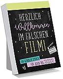 myNOTES Abreißkalender Herzlich Willkommen im falschen Film! 2022 - Ein genialer Spruch für jeden Tag: Tagesabreißkalender zum Aufstellen
