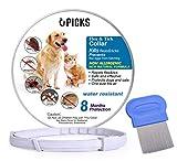 U-picks Collar antipulgas y garrapatas para Perros y Gatos, Resistente al Agua y Natural, con 8 Meses de protección, Seguro y eficaz, repele pulgas y Mosquitos