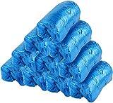 Copriscarpe usa e getta monouso in plastica blu resistente alla polvere e durevole, 100 pz...
