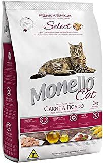 MONELLO CAT DRY FOOD MEAT AND LIVER FLAVOR 1KG
