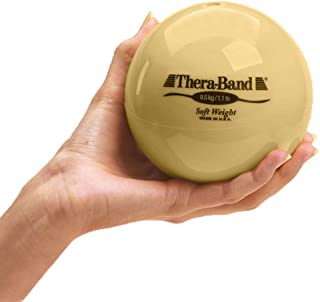 """TheraBand Soft Weight, 4.5"""" Diameter Hand Held Ball Shaped Isotonic Weighted Ball for Isometric Workouts, Strength Trainin..."""