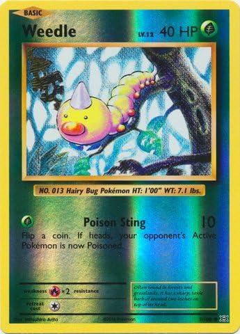 Pokemon Card XY Evolutions 5//108 Weedle Reverse Holo Common
