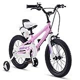 bicicletta per Bambini, Scooter per Bambini, Mountain Bike per Ragazze e Ragazzi, 2-3-6-6-7-8-9-10 Anni, 12/14/10/18 Pollici (Color : Pink, Size : 14inch)