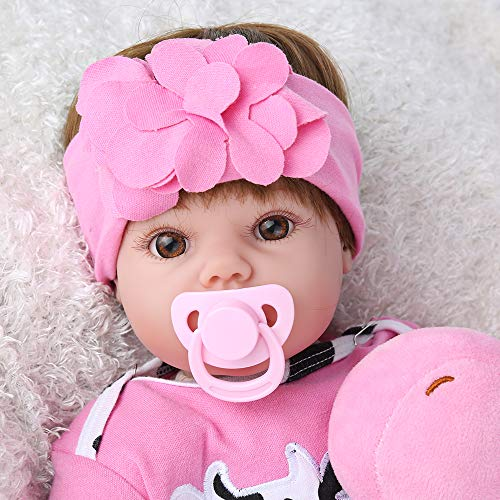 CHAREX Belly Reborn Baby Girl Toddler, 22 Inches Realistic Weighted Body, Cute Kids Gifts