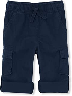 The Children's Place Baby Boys Roll Up Solid Cargo Pants