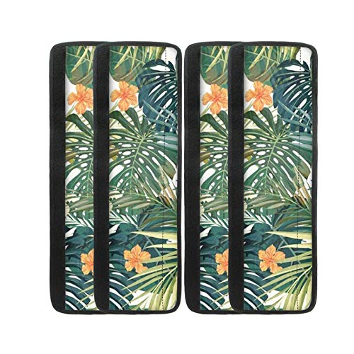 Freewander Refrigerator Door Handle Cover for Microwave Oven Dishwasher for Fridge Kitchen Home Decor Decoration 16.1 L x 5.3 W Inch, Rainforest Tropical Leaves