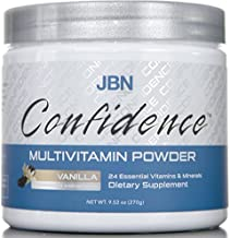 JBN Confidence Powdered Multivitamin - 24 Essential Vitamins and Minerals Complex - Vanilla Flavor for Subtle Taste - Great to Mix into Smoothies or Protein Drinks (Vanilla)
