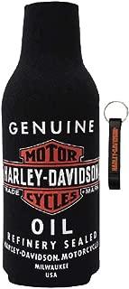 Harley-Davidson Genuine Oil Neoprene Zippered Bottle Wrap w/Opener BZ21230