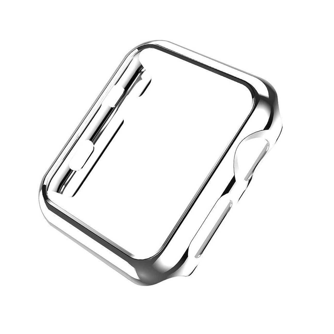 迷路手首最適Sakula Apple Watch Series 3 ケース 高品質PC メーキ加工 耐衝撃性 アップルウォッチ シリーズ 2/3 保護ケース 42mm対応 (シルバー)