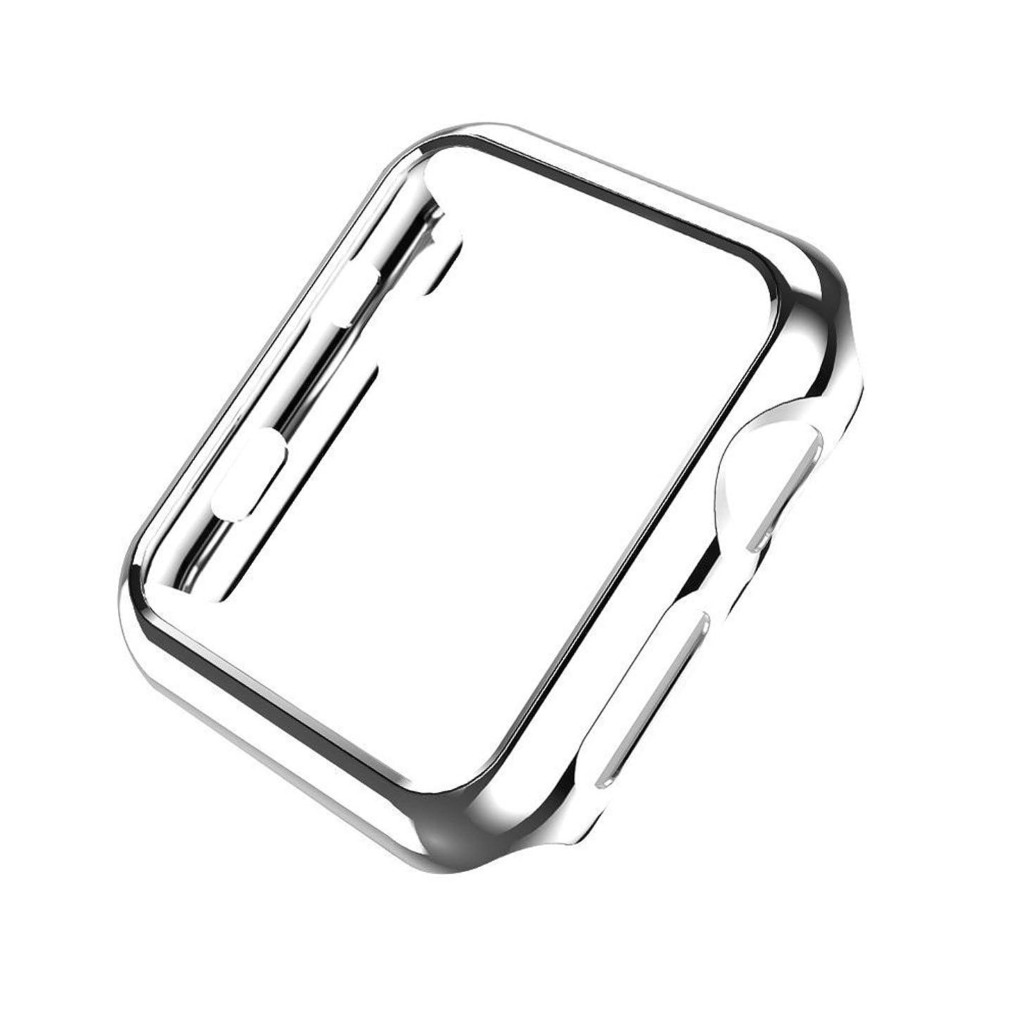 戦闘ブラシボウリングSakula Apple Watch Series 3 ケース 高品質PC メーキ加工 耐衝撃性 アップルウォッチ シリーズ 2/3 保護ケース 42mm対応 (シルバー)
