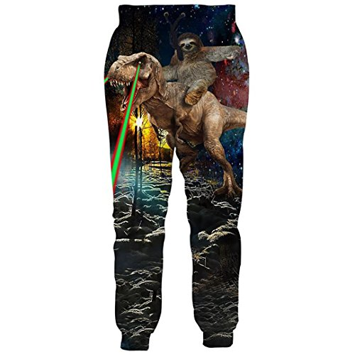 Animal Print 3D Joggers Pants Men's Funny Trousers Sweatpants Tiger Wolf Bodybuilding Pants Trousers DD10111 XXL
