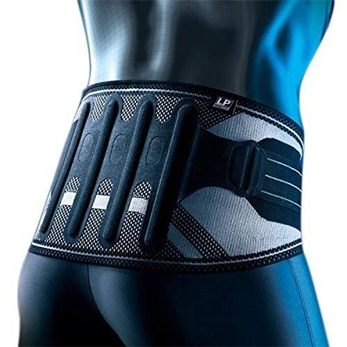 LP Support X-TREMUS 161XT aktive Rücken-Bandage 2.0 mit Zuggurten - Rückenschutz, Größe:XL, Farbe:schwarz